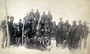 1890s Framed Prints - Buffalo Soldiers Of The 25th Infantry Framed Print by Everett