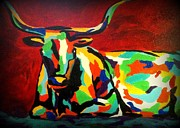 Diana Prickett Prints - Bull II Print by Diana Prickett