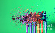 Featured Art - Bullet Hitting Crayons by Ted Kinsman