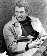 On-set Prints - Bullitt, Steve Mcqueen, 1968 Print by Everett