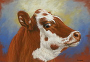 Farm Pastels - Bulls Eye by Margaret Stockdale