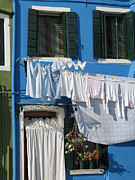 Linge Framed Prints - Burano. Venice Framed Print by Bernard Jaubert