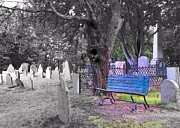 Headstones Prints - Burial Hill  Print by Janice Drew