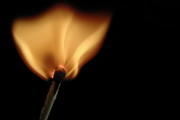 Heat Photo Prints - Burning match Print by Sami Sarkis