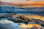 Tropical Sunset Pyrography Prints - Burns Beach WA Print by Imagevixen Photography