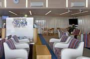 Airline Industry Prints - Business Lounge at an Airport Print by Jaak Nilson