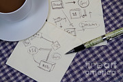 Table Cloth Prints - Business Plan Print by Photo Researchers, Inc.