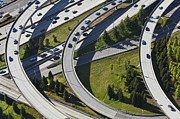 Merging Photo Prints - Busy Freeway Interchange Print by Don Mason