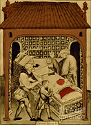 Standards Prints - Butcher, Medieval Tradesman Print by Science Source