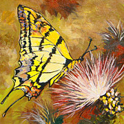Antenna Paintings - Butterfly by Sandy Tracey