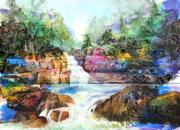 New York State Painting Originals - Buttermilk Falls III by Patricia Allingham Carlson