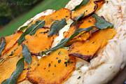 Anne Babineau - butternut squash and crispy sage grilled pizza
