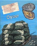 Oysters Prints - Buy the Bag Print by JoAnn Wheeler