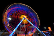 Ferris Wheel Night Photographs Framed Prints - Buy the Ticket take the Ride IV Framed Print by Christina Czybik