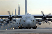 Freight Photos - C-130 Hercules Aircraft Taxi by Stocktrek Images