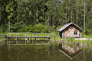 Log Cabin Photos - Cabin Near the Water by Jaak Nilson