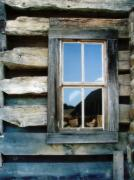 Cabin Window Framed Prints - Cabin Window Framed Print by Todd A Blanchard