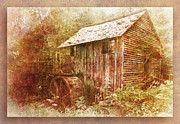Grist Mill Posters - Cades Grist Mill Poster by Barry Jones