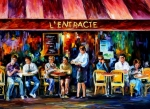 Afremov Art - Cafe in Paris by Leonid Afremov