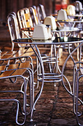 Al Fresco Photo Framed Prints - Cafe Tables and Chairs Framed Print by Jeremy Woodhouse