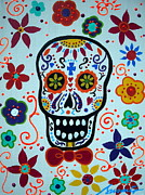 Day Of The Dead Paintings - Calavera by Pristine Cartera Turkus