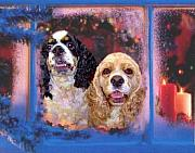 Dogs Digital Art Originals - Cali and Daisy by Sue Alandar