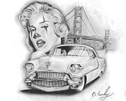 Gangster Drawings - California Dreamin by Brandon Hurley