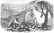 Forty Niner Prints - California Gold Rush, 1852 Print by Granger