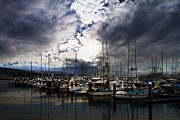 Sail Boats Posters - Calm Before The Storm Poster by Wingsdomain Art and Photography