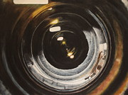 Camera Painting Prints - Camera Lens Print by Lindsey Weinrich