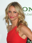 Pink Lipstick Framed Prints - Cameron Diaz At Arrivals For The Green Framed Print by Everett