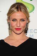 Dangly Earrings Photo Framed Prints - Cameron Diaz Wearing Lanvin Earrings Framed Print by Everett