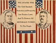 Us Presidents Framed Prints - Campaign Poster For William Mckinley Framed Print by Everett