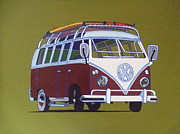 Camper Paintings - Camper Van 2012 by Nicky Leigh