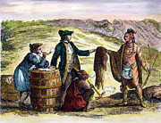 Trader Framed Prints - Canada: Fur Traders, 1777 Framed Print by Granger