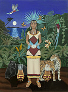 Jaguars Paintings - Cancer Xochiquetzal by Karen MacKenzie