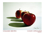 Apple Pastels Prints - Candy Apple Red Print by Colleen Brown