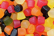 Gummy Framed Prints - Candy Background Framed Print by Andrew Dernie