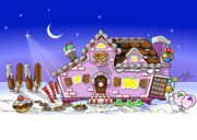 Frosting Digital Art Posters - Candy House Poster by Andy Bauer