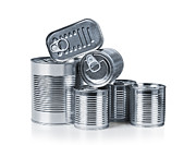 Label Photo Prints - Canned food Print by Carlos Caetano