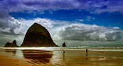 Sandy Beaches Prints - Cannon Beach at Dusk Print by David Patterson