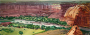 Panorama Painting Originals - Canyon Panorama by Donald Maier