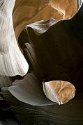 Desert Metal Prints - Canyon Sandstone Abstract Metal Print by Mike Irwin
