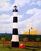 Lighthouse Images Paintings - Cape Canaveral Lighthouse by Frederic Kohli