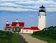 Lighthouse Images Paintings - Cape Cod Highland Lighthouse  by Frederic Kohli
