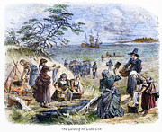 Mayflower Beach Prints - Cape Cod: Pilgrims Print by Granger