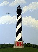 Historic Buildings Paintings - Cape Hatteras Lighthouse by Frederic Kohli