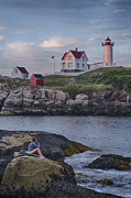 Cape Neddick Lighthouse Print by David DesRochers