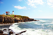 "York Maine Prints - Cape Neddick ""nubble"" Lighthouse Print by Thomas Northcut"