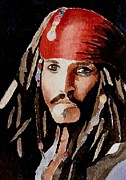 Jack Sparrow Paintings - Capt Jack Sparrow by Chris Martinez